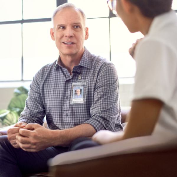 Private care therapy with Healthcare worker